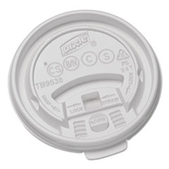 DXE TB9538X Dixie Plastic Lids for Dixie Hot Drink Cups DXETB9538X