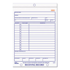 RED 2L259 Rediform Receiving Record Book RED2L259