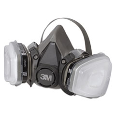 MMM 6111PA1A 3M Half Facepiece Paint Spray/Pesticide Respirator MMM6111PA1A