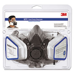 MMM 6211PA1A 3M Half Facepiece Paint Spray/Pesticide Respirator MMM6211PA1A