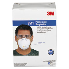 MMM 8511 3M Particulate Respirator 8511, N95 with 3M Cool Flow Exhalation Valve MMM8511
