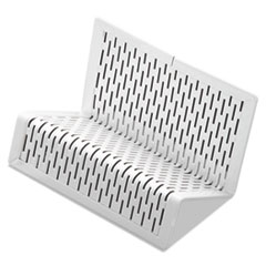 AOP ART20001WH Artistic Urban Collection Punched Metal Business Card Holder AOPART20001WH