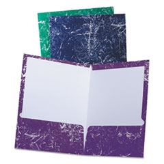 OXF 50190 Oxford Marble Laminated Twin Pocket Folders OXF50190