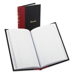 BOR 96304 Boorum & Pease Record and Account Book with Black Cover and Red Spine BOR96304