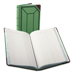 BOR 6718300J Boorum & Pease Journal with Green and Red Cover BOR6718300J