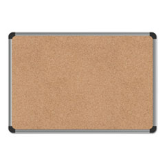 UNV 43712 Universal Deluxe Cork Board with Aluminum Frame UNV43712
