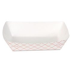 DXE RP408 Dixie Kant Leek Polycoated Paper Food Tray DXERP408