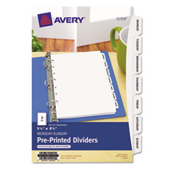 "AVE 11319 Avery Preprinted Tab 5 ½"" x 8 ½"" Dividers AVE11319"