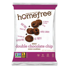 HMF 01948 Homefree Gluten Free Double Chocolate Chip Mini Cookies HMF01948