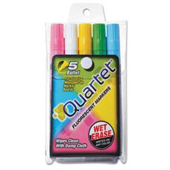 QRT 5090 Quartet Glo-Write Fluorescent Marker Five-Color Set QRT5090