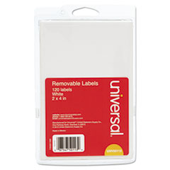 UNV 50113 Universal Self-Adhesive Removable ID Labels UNV50113