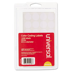 UNV 40108 Universal Self-Adhesive Removable Color-Coding Labels UNV40108