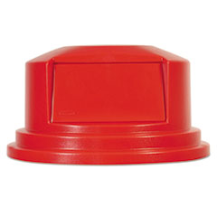 RCP 265788RED Rubbermaid Commercial Round Brute Dome Top RCP265788RED