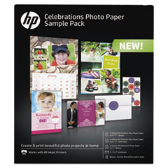 HEW K0A21A HP Celebration Photo Paper Sample Pack HEWK0A21A