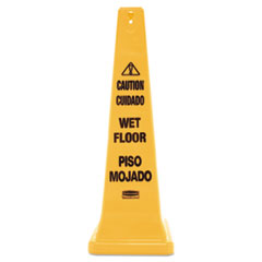 RCP 627677 Rubbermaid Commercial Multilingual Safety Cone RCP627677