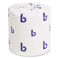 Two-Ply Toilet Tissue, White, 4 1/2 x 3 Sheet, 500 Sheets/Roll, 96 Rolls/Carton