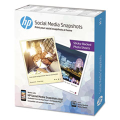 HEW K6B83A HP Social Media Snapshots Removable Sticky Photo Paper HEWK6B83A