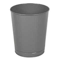 RCP WB26GY Rubbermaid Commercial Fire-Safe Steel Round Wastebaskets RCPWB26GY