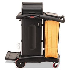 RCP 9T7500BK Rubbermaid Commercial High-Security Healthcare Cleaning Cart RCP9T7500BK