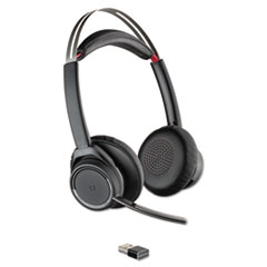 PLN 20265201 Plantronics Voyager Focus UC Stereo Bluetooth Headset System with Active Noise Canceling PLN20265201