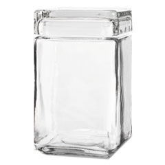 ANH 85588R Anchor  Stackable Square Glass Jar ANH85588R