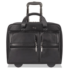 USL D9574 Solo Classic Leather Rolling Case USLD9574