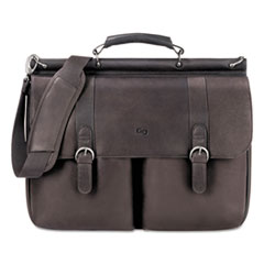 USL D5353 Solo Executive Leather Briefcase USLD5353