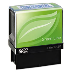 COS 098374 COSCO 2000PLUS Green Line Self-Inking Message Stamp COS098374