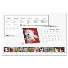 HOD 3659 House of Doolittle Earthscapes 100% Recycled Puppy Desk Tent Monthly Calendar with Photos HOD3659