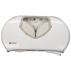 SJM R4070WHCL San Jamar Twin Jumbo Bath Tissue Dispenser SJMR4070WHCL