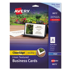 AVE 8873 Avery Premium Clean Edge Business Cards AVE8873