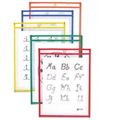 CLI 40610 C-Line Reusable Dry Erase Pockets CLI40610