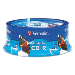 VER 96189 Verbatim CD-R Printable Recordable Disc VER96189