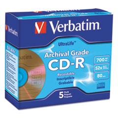 VER 96319 Verbatim CD-R Archival Grade Recordable Disc VER96319