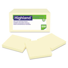 MMM 6549RP Highland Recycled Self-Stick Notes MMM6549RP