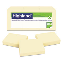 MMM 6539RP Highland Recycled Self-Stick Notes MMM6539RP