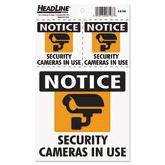 USS 8198 Headline Self-Stick Security Camera Combo Decal USS8198