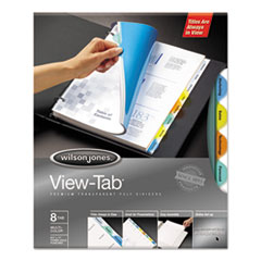 WLJ 55063 Wilson Jones View-Tab Transparent Index Dividers WLJ55063
