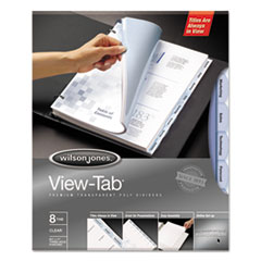 WLJ 55068 Wilson Jones View-Tab Transparent Index Dividers WLJ55068