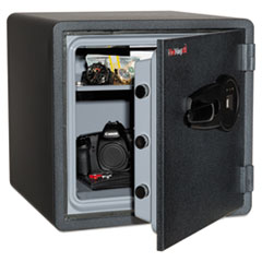 FIR KY13131GRFL Fireking One Hour Fire Safe and Water Resistant with Biometric Fingerprint Lock FIRKY13131GRFL