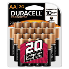 DUR MN1500B20Z Duracell CopperTop Alkaline Batteries DURMN1500B20Z