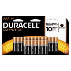 DUR MN2400B20Z Duracell CopperTop Alkaline Batteries DURMN2400B20Z
