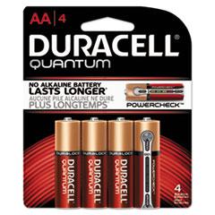DUR QU1500B4Z Duracell Quantum Alkaline Batteries DURQU1500B4Z