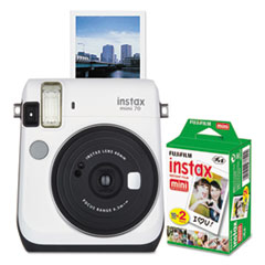 FUJ 600016064 Fujifilm Instax Mini 70 White Camera Bundle FUJ600016064