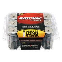 Ultra Pro Alkaline Batteries, C, 12/Pack