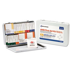 FAO 90700 First Aid Only Unitized ANSI Class A Weatherproof First Aid Kit FAO90700