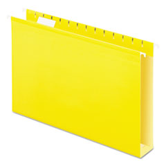 PFX 4153X2YEL Pendaflex Extra Capacity Reinforced Hanging File Folders with Box Bottom PFX4153X2YEL