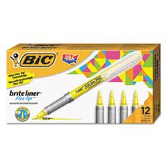 BIC GBLB11YE BIC Brite Liner Flex Tip Highlighters BICGBLB11YE
