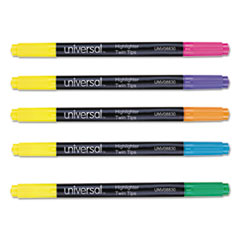 UNV 08830 Universal Twin Tip Highlighters UNV08830