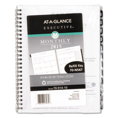 AAG 7091410 AT-A-GLANCE Executive Monthly Planner Refill AAG7091410